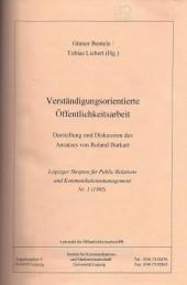 Verständigungsorientierte Öffentlichkeitsarbeit. Darstellung und Diskussion des Ansatzes von Roland Burkart